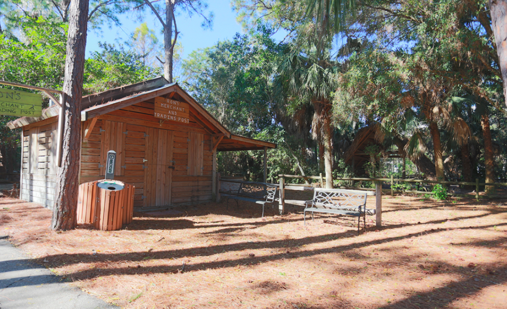 The Collier County Museum wooden cabin