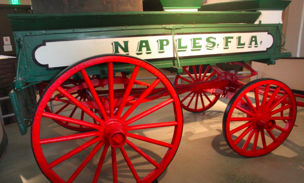 Wooden Wagon at The Naples Depot