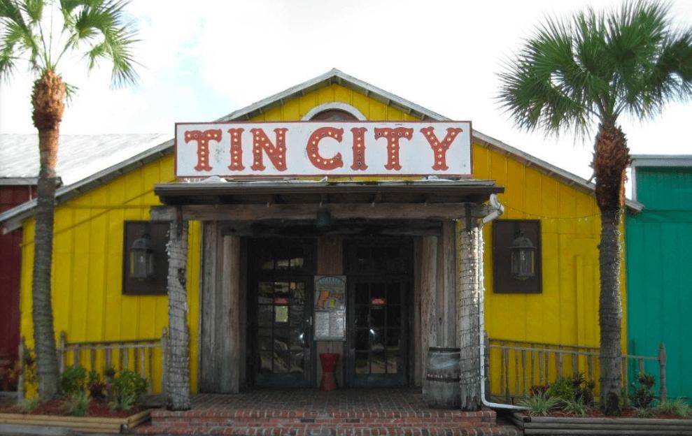 Tin City Entrance
