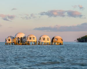 Dome Homes in the water