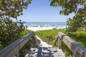Naples Pier Beach Entrance Naples FL